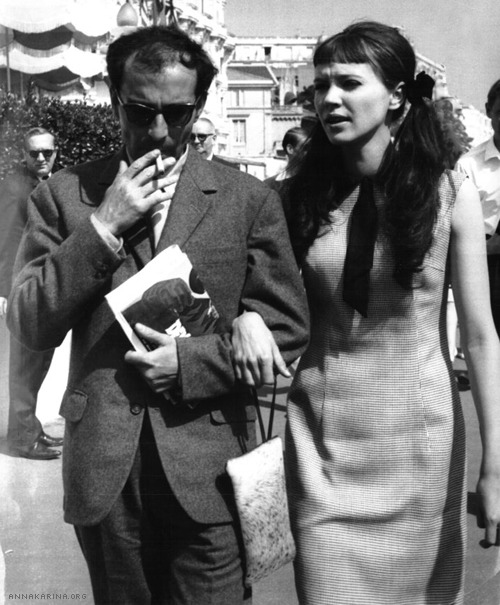 With Jean-Luc Godard at the 16th Annual Cannes International Film Festival, 1963.