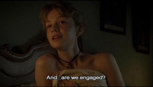"Captain Tilney: ""Are we..hahahaa…are we engaged?…hahahahahaha *door slam*"""