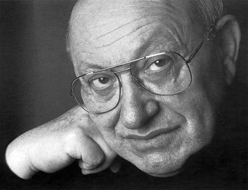 Marcel Reich-Ranicki (b. 1920, Poland) is a German literary critic and member of Gruppe 47. He is regarded as one of the most influential contemporary literary critics of German literature; so much so that he is often referred to as the 'Pope of [German] literature' (Literaturpapst), which should provide a sense of the admiration (and contempt) Germans have for him.  He was the creator and a host of Literarisches Quartett (1988-2001), a German television show that discussed and reviewed modern and contemporary literature. Reich-Ranicki's commentary is entertaining and interesting, even when it is old-fashioned and, like some of my favourite critics, rashly dismissive—the program is more show than literary journal. (I have looked for the series on DVD, hoping for English subtitles, but all I could find was German transcripts and audio recordings; there are a few clips on Youtube—in the meantime, I'll keep building my German vocab. Also, if anyone knows of an English show of similar caliber, do let me know.)  Of particular interest is Reich-Ranicki's Canon of German Literature (Der Kanon): a massive multi-volume anthology of German language novels, stories, poetry, plays, and essays; a listing of its content can be found on the Der Kanon - Wikipedia page. Of the many authors Reich-Ranicki champions, it seems to me that Hermann Burger's writings are the most in need of English translation.  (Image: photo by Herlinde Koelbl)