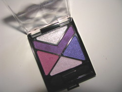 For the purple eyeshadow lovers- Maybelline's new EyeStudio Color Explosion in Amethyst Ablazed. Seriously vivid esp. the chevron of purple.