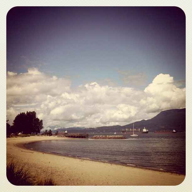 Beach walk! (Taken with Instagram at Jericho Beach)