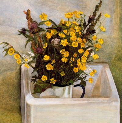 #lucian_freud, #uk, #painting, #still_life, #flowers, #realism, #1900s, #1960s