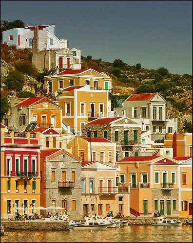 The port of Symi, Dodecanese, Greece (by gargaro)