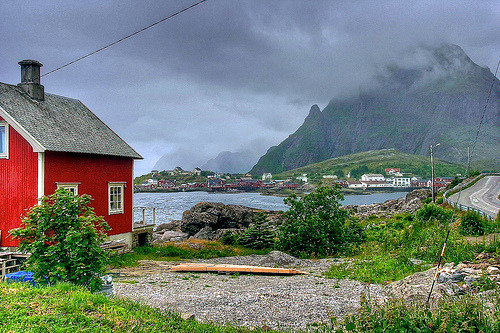 Lofoten, Norway, in the clouds  (by unicorn 81)