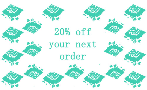 Get 20% off your next order once you buy from LucyMelissa.etsy.com! Check out my products and let me know what you fancy :)