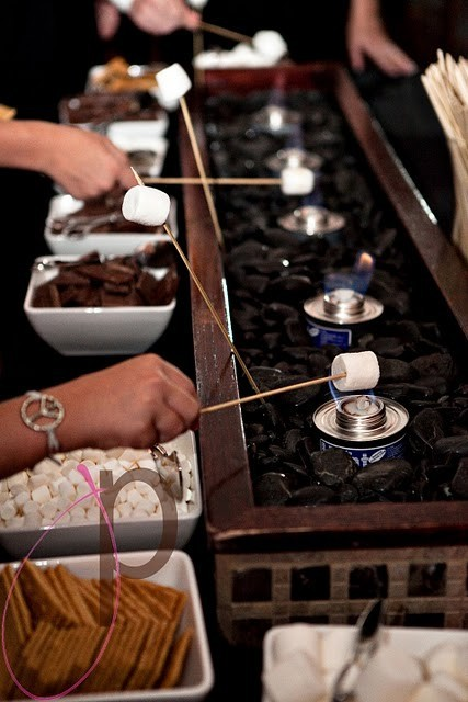 Having a smores bar at a wedding reception would be such a good idea!!