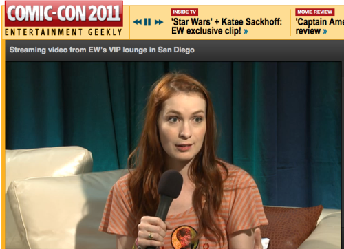 Did you know we are streaming video from EW's VIP lounge in San Diego?!