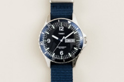 J. Crew x Timex Andros Watch In yet another collaboration between watchmaker Timex and American label J. Crew, the two have come up with this timeless dive-style watch. Inspired by the Andros Barrier Reef, the world's third largest, the battery powered watch is water-resistant up to 100 meters and features a quartz analog movement, stainless steel casing and removable nylon strap. Priced at $175 USD, the watch is available for purchase online through J. Crew.  I want one!