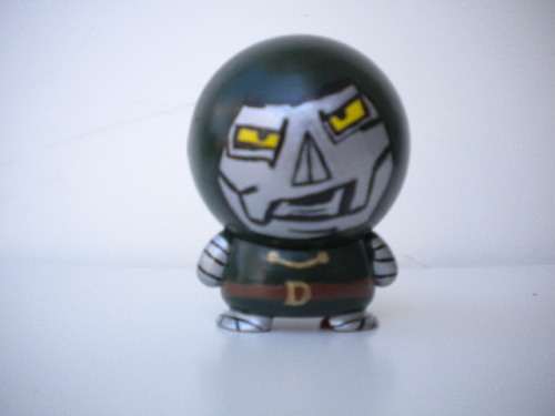 custom Dr Doom made from marvel big head