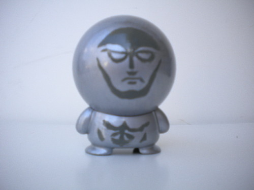 custom Silver Surfer made from marvel big head