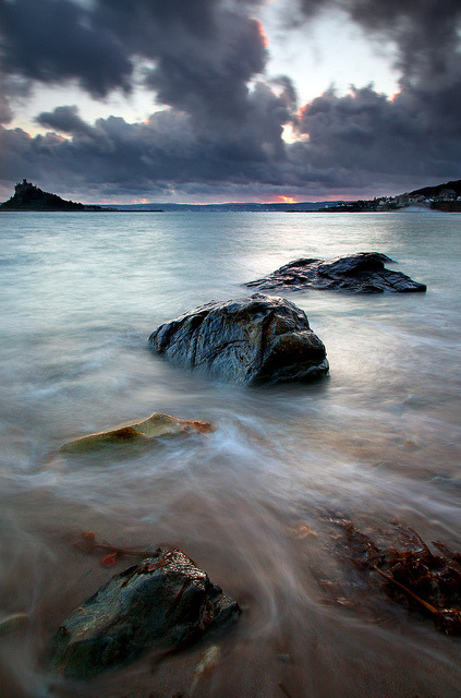 Stormy Evening by midlander1231 on Flickr. Cornwall, home to the tragic tale of Tristan and Isolde.