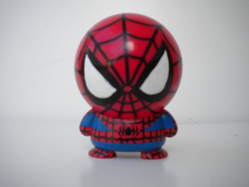 custom spiderman made from marvel big head