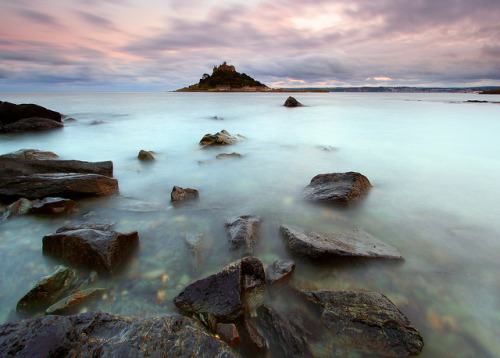 Mounts Bay by midlander1231 on Flickr.Cornwall, home to the tragic tale of Tristan and Isolde.