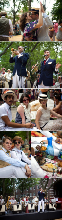 Another gorgeous bunch of photos showed up from the Jazz Age Lawn Party! Going to try and bring an even fancier spread next time… (By Virginia Rollison.)