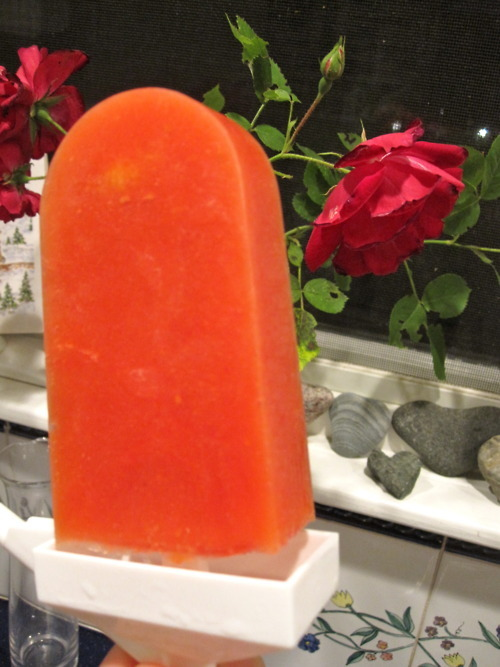 Mango-raspberry-lime popsicles from Izzy of Veganizzm! These have four ingredients and they look so good I want to climb inside one and live for the rest of the summer. Do you follow Veganizzm? It's really great!