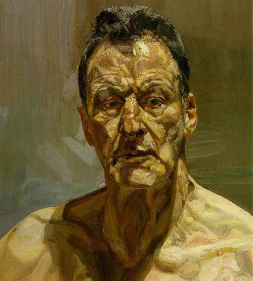 Reflection (self portrait) 1985; Oil on canvas, 56.2 x 51.2 cm; Private collection (via  Paul Payne)