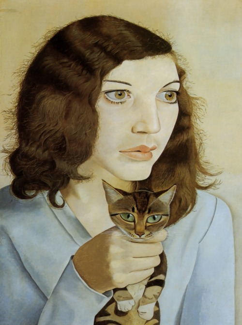 Lucian Freud Girl With A Kitten 1947