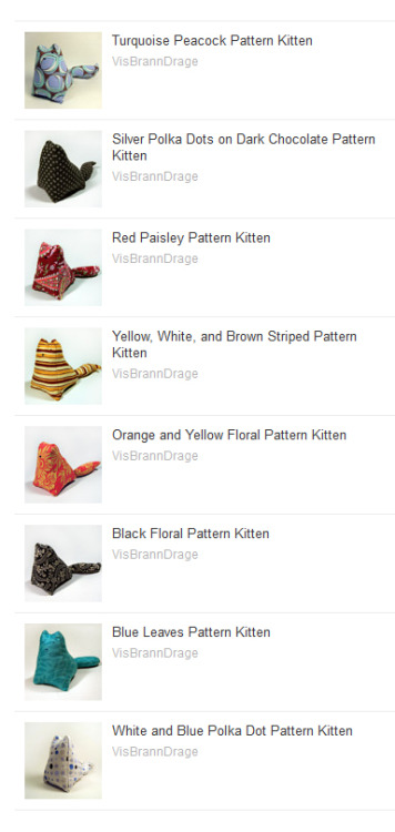 PATTERN KITTENS ARE NOW FOR SALE. Above are the 8 designs for sale right now. More to come soon. Click on the photo or click here. Tell your family! Tell your friends!