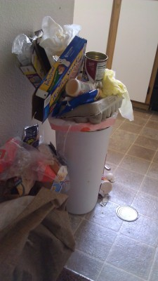 Trash Can Jenga?