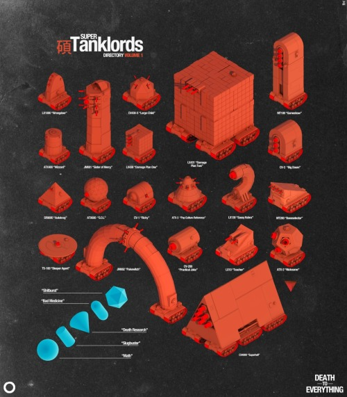 Super Tanklords directory vol. 1 is complete!  Prints right here.