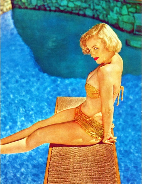 hollyhocksandtulips:  Marilyn poolside