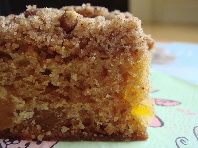 Apricot Pecan Crumb Cake Cross-Section by ComeUndone on Flickr.