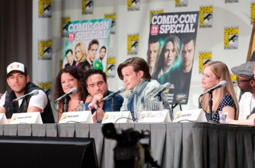"Recap of TV Guide Fan Favorites Panel: 'Doctor Who' Star Matt Smith Brings Down the House  ""The few, the proud, the nerds,"" Zachary Levi quipped when celebrating the fanbase of his series, Chuck, which will begin its final season this fall. It was a rallying cry that resonated in Ballroom 20, which housed TV Guide's Fan Favorites panel at San Diego Comic-Con. Moderated by TV Guide editor-in-chief Debra Birnbaum, this panel amassed a ragtag group of stars — including former Lost star Jorge Garcia, True Blood's Kristin Bauer and Nelsan Ellis, The Big Bang Theory's Johnny Galecki, and yes, Doctor Who's Matt Smith — who have one thing in common: they have followings that presidential candidates would sell their first-borns for. These viewers are anything but casual: they are fully engaged, vigilant, and catalog the smallest details. The tiniest lapse in logic or continuity, and you've won wrath that is nearly impossible to overcome. But earn their respect, and you've reaped devotion that can help power a career for years. And San Diego Comic-Con offers a chance for super-fans to press the flesh with their idols. ""One of the best places in the world to be this time of year is right here in San Diego with you,"" Levi said. ""When I came to Comic-Con 15 years ago, it was 10 guys with tinfoil hats,"" says Leslie Hope, star of ABC's upcoming drama The River.  ""But, this year, I came  with my sons and it is one of the coolest things I've ever done."" Matt Smith, who is in his second highly-regarded season on BBC America's Doctor Who, is experiencing his first Comic-Con. As the eleventh man to star on the long-running series, he had a challenge of stepping into some well-worn shoes. ""For me, it's quite remarkable to jump into something that already has a legacy. It started with William Hartnell, Patrick Troughton… Tom Baker."" But after doing fan events both stateside and in his native Britain, ""I now realize it's quite popular,"" he laughed. In spite of getting the most rousing applause of anyone on staff, Smith admitted to being starstruck by his own co-panelists. ""I get to sit next to Pam and Lafayette,"" referring to the True Blood character names of stars Kristin Bauer and Nelsan Ellis. He says he's a ""huge fan"" of the vampire drama.  Smith remarked on the irreverence of the crowds here: ""I saw a man dressed as the Predator who looked like he could take my head off. So there's a good spirit here."" In the Q&A portion of the panel, Smith received the lion's share of questions, including one about a possible return of one of the Doctor's best companions, Captain Jack Harkness. ""John [Barrowman] is welcome to come back and strut his stuff."" Speaking of Barrowman, he will be on the Torchwood panel tomorrow morning (July 22), so stay tuned for my recap on that…  via BBC America - Anglophenia Blog"