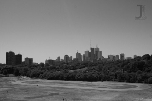 Riverdale Skyline.  Riverdale Park on Broadview, just north of Gerrard.