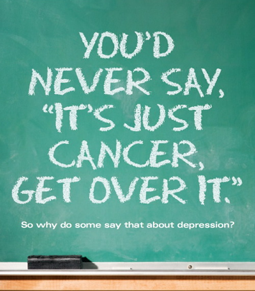 realizeviennawaitsforyou:  Depression isn't just something you can get over, or snap out of.  I really wish people took it more seriously. 'Cause it's real, and absolutely awful, and it deserves attention. Don't let anyone tell you otherwise. They are just ignorant. Reblog if you or someone you know suffers from clinical depression.