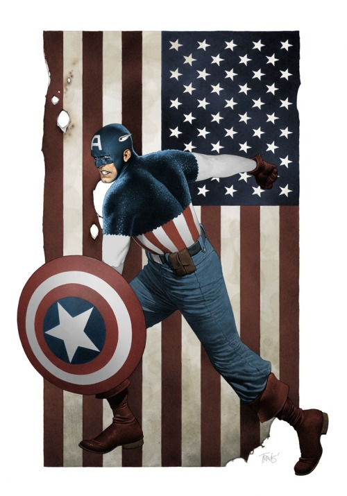 dowelikeit:  Captain America by Travis Charest  ,