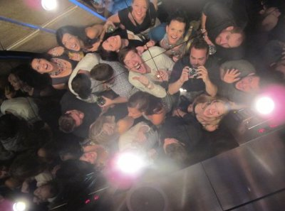 One of my most fave birthday pics to date. Lots of people I love in one elevator helping me ring in 30 at the Cosmopolitan in Vegas. Love it. *single tear