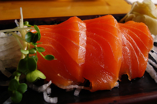 cravingsforfood:  Salmon sashimi.  NO SHIT SHERLOCK .