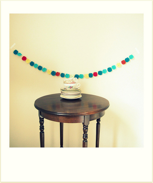 schnappiandmicky:  mini granny garland by cornflowerbluestudio on Flickr.