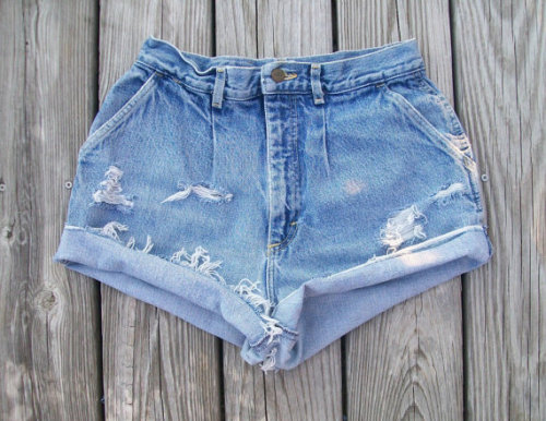 High waisted shorts,