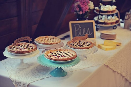 How do you feel about wedding pie instead of a wedding cake?