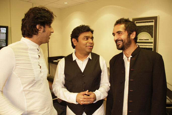 A R Rahman with Karsh Kale and Salim Merchnt : Awesome!!!!! A Picture I took in LA 2011.