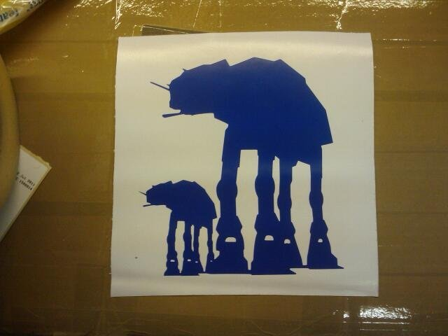 Mummy and baby AT-AT.  I like to imagine they are off down to Farmfoods, to buy a box of Fab lollies. Maybe even a can of Vimto. (Taken with picplz.)