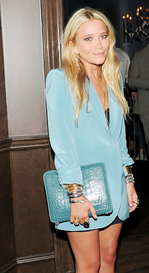 Mary-Kate Olsen, looking damn fine at her clothing line [The Row] handbag launch.