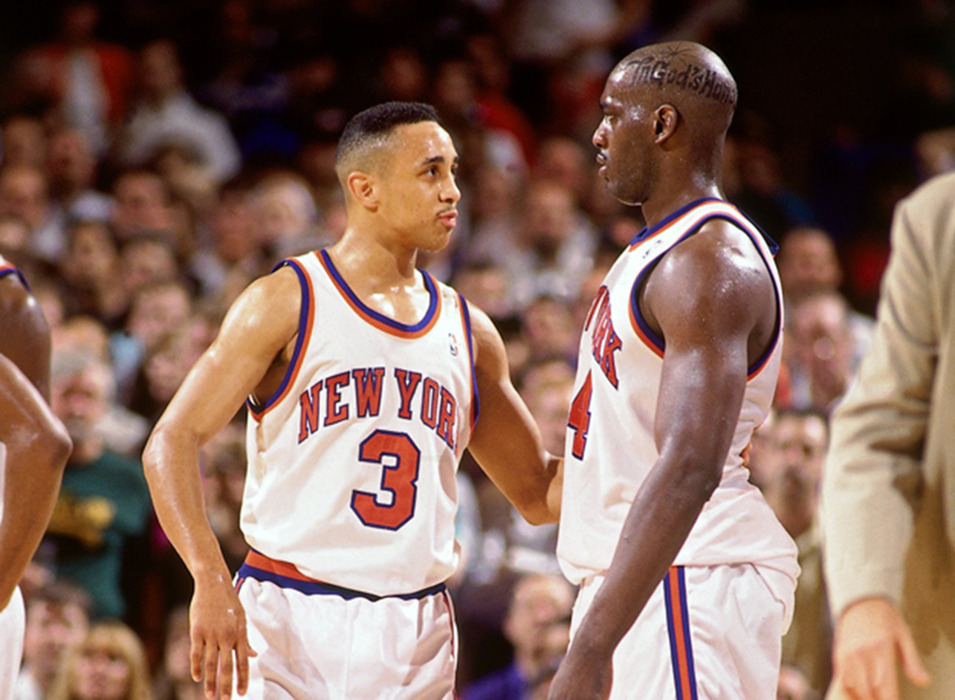 Throwback Photo of the Day: John Starks and Anthony Mason's impeccable hairstyle. Stay cool, New York. Like I mean, find some air-conditioning and stuff. It's hot out there.