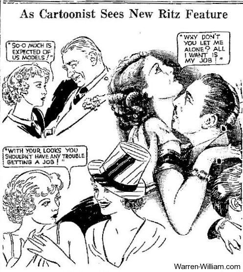 Cartoon drawn after seeing Employee's Entrance (1932), starring Warren William, Loretta Young & Alice White. Saw this last night as the bottom half of a Warren William Double feature at Film Forum's Essential Pre-Code festival. It was completely enjoyable! I say we all lobby to get more of the early pre-code talkies on video, as it's such a shame so many of them are completely unavailable.