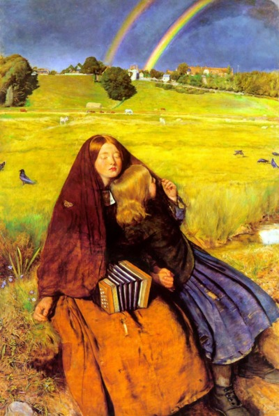 wetbehindthears:  The Blind Girl, 1854-1856 by John Everett Millais.