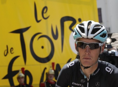 Tour de France 2011: facial expression representative of how Leopard Trek tackled the Tour (ie: a bit whiney and a lot smacked cats arse). (via Photo from Reuters Pictures)