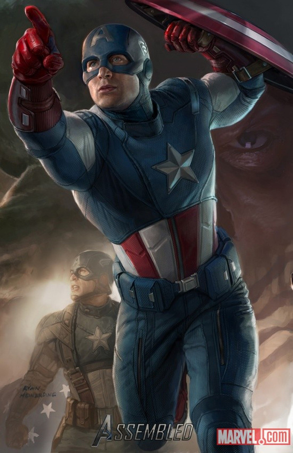 A poster of Captain America in his Avengers outfit. I approve. (From San Diego Comic Con)