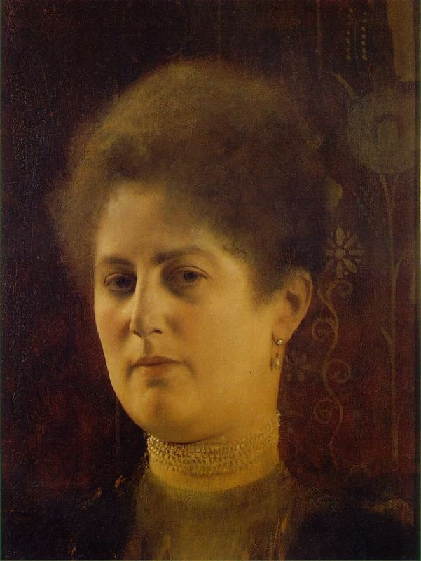 sealmaiden:  Gustav Klimt, Portrait of a Lady 1894 more here