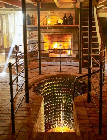 such a cool idea for a wine room/cellar sorta thing!