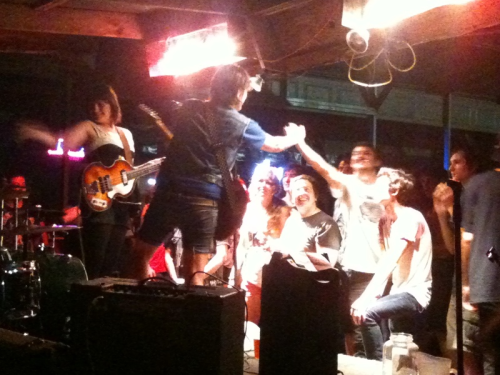"wesFEST! 2011  The Deland fest at Junkyard Saloon the other night was unreal. Kids went nuts and we had a blast! We also got to play with some of the best local bands around like Critter, TDC and Rubrics from SC!   In addition, Nina got a black eye (video up on our YouTube), we sold some records (that's right, if you picked up a limited edition red splatter 7"" from us you were one of the lucky few!) and had an all-around great night (thanks everyone!). We will definitely have to stop back by during the Sweat to Death tour in August.  Stay classy, Deland!  <3"