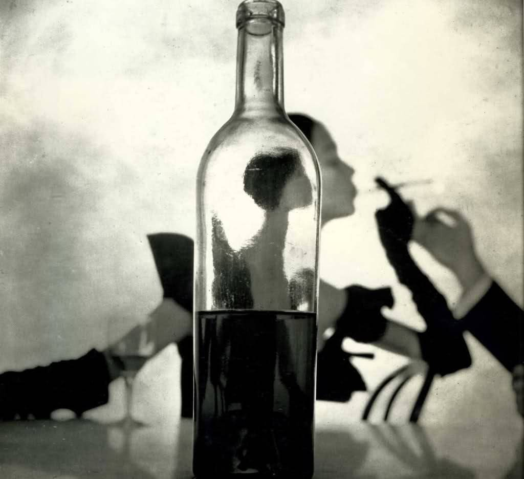 Girl Behind Bottle - Irving Penn