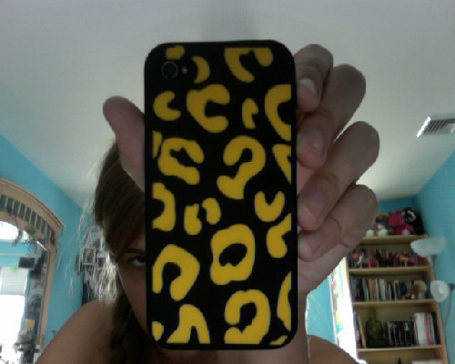 black and yellow leopard print iphone case, $5.00 at Five Below (aka the best store ever)