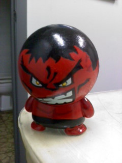 Custom Red Hulk made from Marvel big head