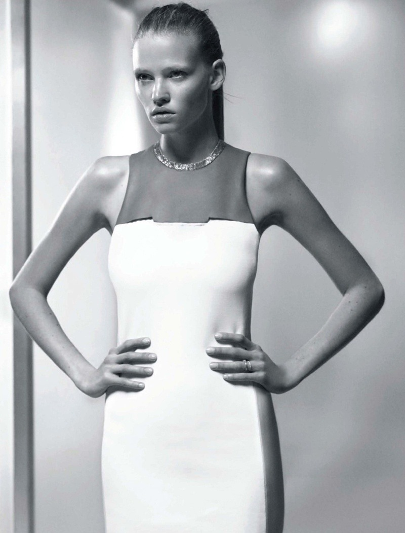 Lara Stone in Calvin Klein for Vogue Russia.